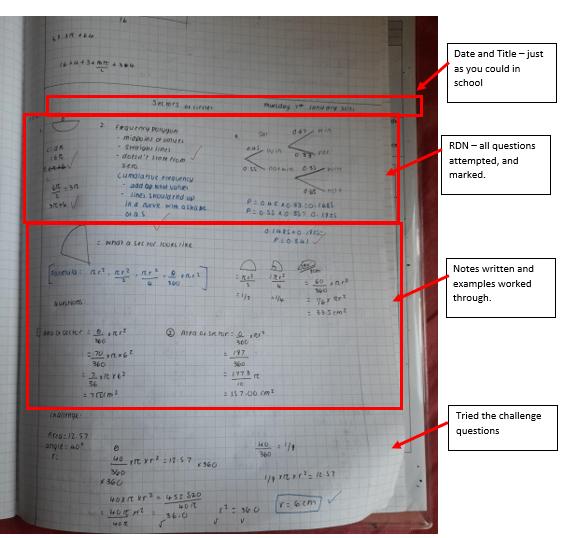 Yr 9 example work 2